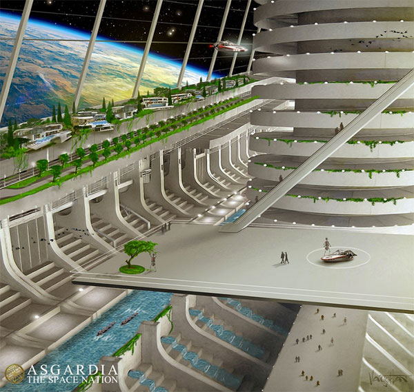 Interior de Asgardia