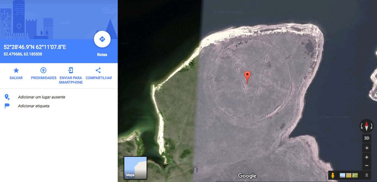 O misterioso pentagrama do Google Maps